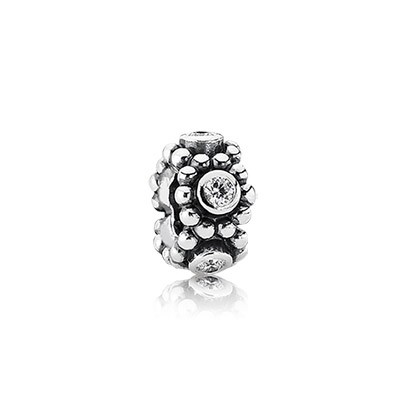 PANDORA Her Majesty with Clear CZ Spacer